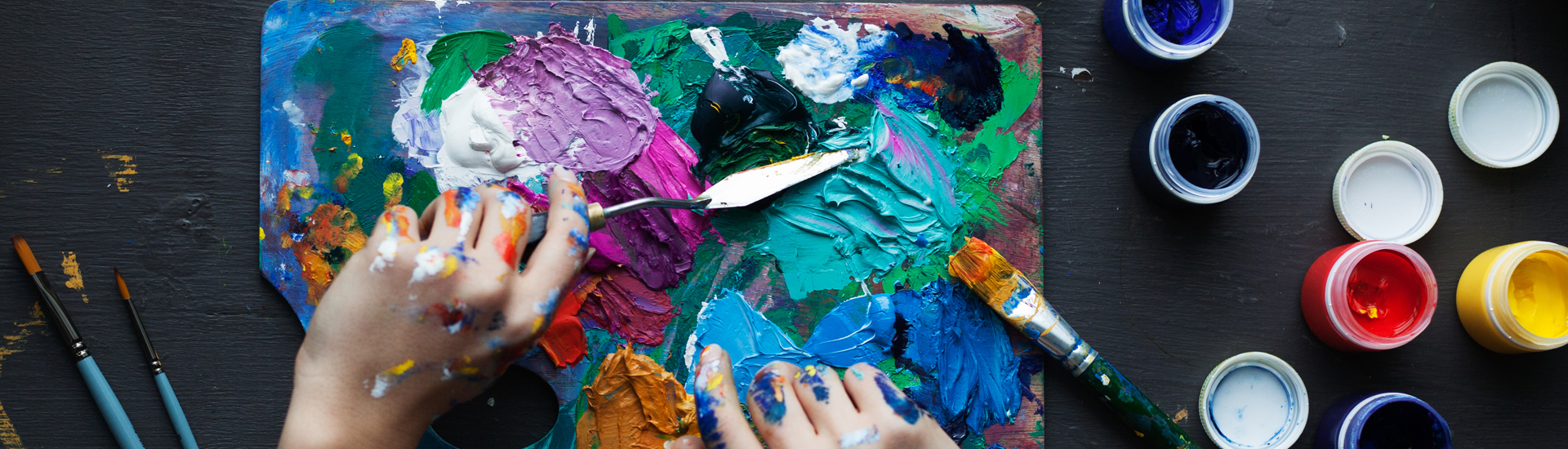 The Artist's Hands with Palette Knife